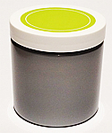 SNJPET500SWG-500ml Silver PET Plastic Jar with 89/400 White/Lime Green Lid