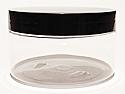 SNJAR250CLFBL-250g Clear PET Plastic Jar with 89/400 Flat Black Lid