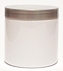 SNJPET500WS-500ml White PET Plastic Jar with 89/400 Silver Lid