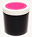 SNJPET500BWP-500ml Black PET Plastic Jar with 89/400 White/Hot Pink Lid