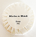 Kris n Rad Pleat Wrapped Round Soap-20g-Citrus Fragrance-(Sold in a Box of 500-the price quoted is the price for the whole box)
