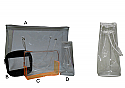 D-PB1008-Conical Clear Tote Bag Size Dia 15cm Height 20cm Drawstring Closure Clear PVC 0.2mm thickness