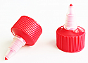 Plastic Red Natural Twist Top Cap 28/410