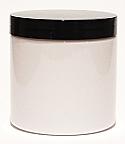 SNJPET500WB-500ml White PET Plastic Jar with 89/400 Black Lid