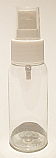 SNSET-50CBPETWFMS-50ml Clear Boston PET Bottle with White Fine Mist Sprayer 24/410