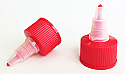Hot Red Natural Plastic Twist Top Cap 24/410