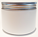 SNSETEJ-25425AL-WHITE PLASTIC JAR, 12 OZ. PP SINGLE WALL ROUND BASE WITH AN 89/400 Ribbed Aluminium Flat Lid