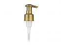 "METALLIC PEARL GOLD LOTION PUMP, 24/410 FINISH, SMOOTH, 1.5cc NAUTILUS WITH A LOCK UP HEAD AND A 4 3/4"" DIP TUBE"