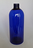 SNEP-500CBPETSB- 500ml Cobalt Blue PET Boston Bottle with 28/410 Neck