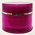 SNJAR5HPUSR-5ml Hot Purple Acrylic Jar with Flat Lid with Square Base and Silver Rim