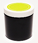 SNJPET500BWG-500ml Black PET Plastic Jar with 89/400 White/Lime Green Lid