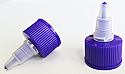 Hot Purple Natural Plastic Twist Top Cap 24/410