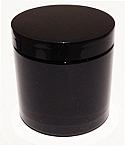 SNJPET500BB-500ml Black PET Plastic Jar with 89/400 Black Lid