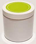 SNJPET500WWG-500ml White PET Plastic Jar with 89/400 White/Lime Green Lid