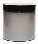 SNJPET500SB-500ml Silver PET Plastic Jar with 89/400 Black Lid