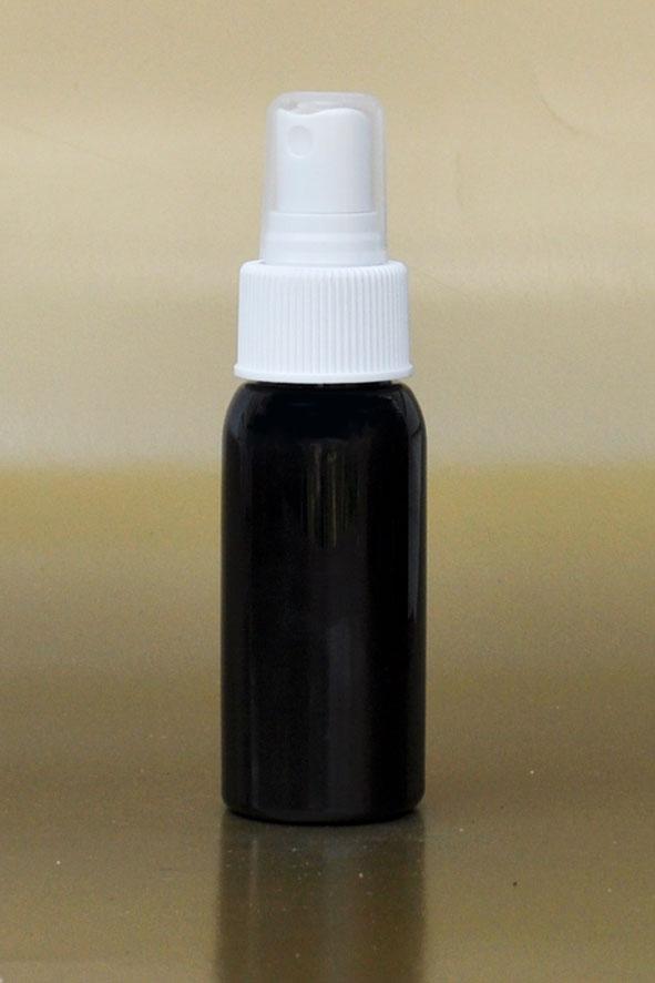 50ml Black Boston PET Bottle with White Fine Mist Sprayer 24/410