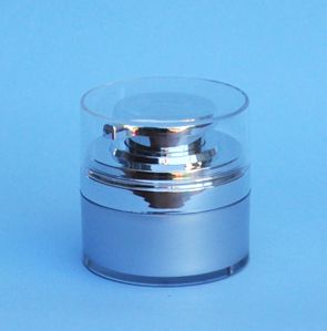 SNCTP50SS-Cosmetic Treatment Pump 50ml-Silver Base+Silver Pump/Lid and Clear Plastic Hood