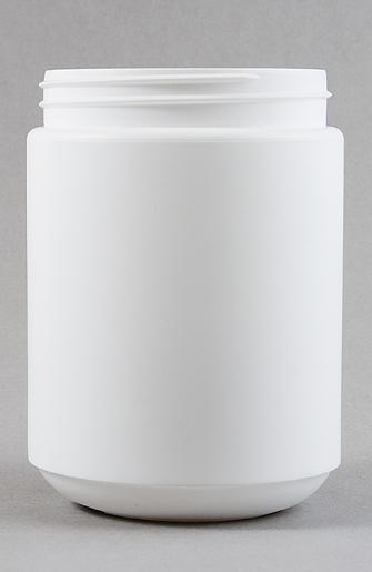 1000ml White HDPE Tall Round Jar with 95mm Screw Finish