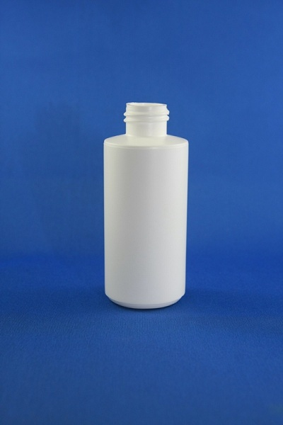SNEP-100HDPENC-100ml HDPE Natural Cylindrical Bottle with 24/410 Neck