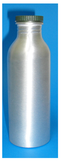 Aluminium Boston Shaped Bottle 250ml with Lid as shown