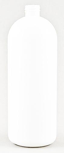 SNEP-50992-1000ml White HDPE Boston Bottle 28mm 410 Finish-234mm tall, 84.7mm dia