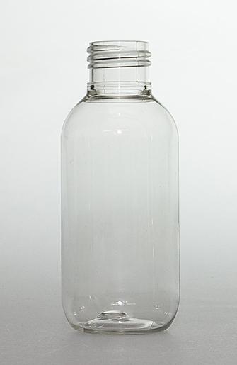 SNEP-100CLPETB-100ml Clear PET Boston Bottle 24mm 410 Screw Finish