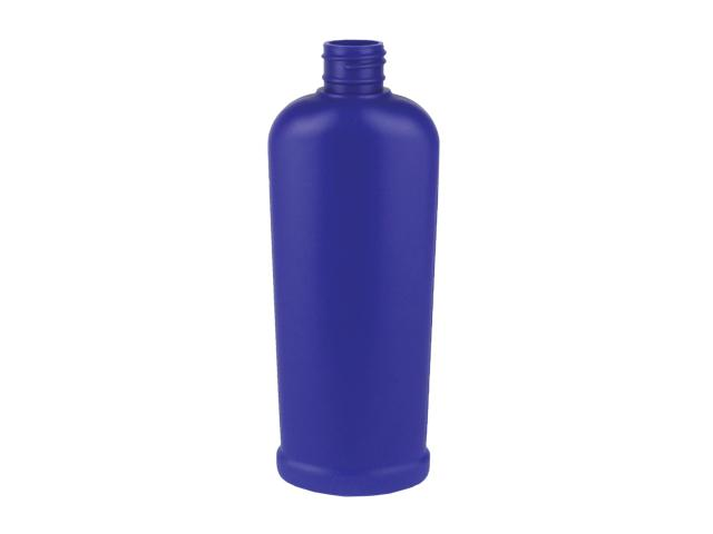 EP-25139-DARK BLUE PLASTIC BOTTLE, 8 OZ. HDPE REVERSE TAPERED RIBBED OVAL WITH A 24/410 FINISH, FOOTED