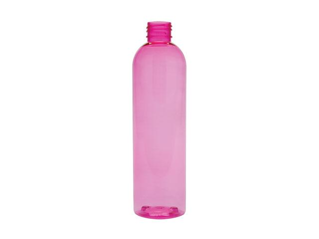SNEP-27640-PINK PLASTIC BOTTLE, 8 OZ PET BULLET WITH A 24/410 FINISH