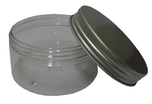 FRKT-0005-150g Clear PET Jar with Aluminium Cap