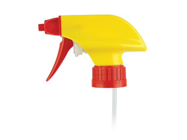 """SNHT-21383 TRIGGER SPRAYERS  28/400 RATCHET FINISH , MIXOR-4 HP FOAM/OFF WITH A 9 13/32"""" DIP TUBE, 1.6ml"""