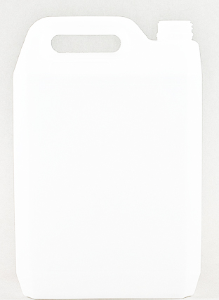 SNJC-80011-5Ltr Natural HDPE Jerrycan Q 38mm 410 Finish with white cap