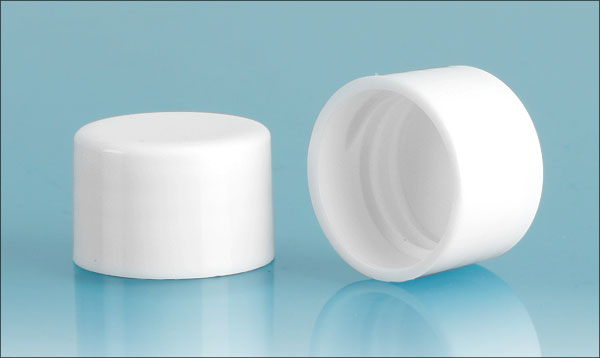 SNDR-2250-71-White Polypropylene F217 lined Continuous Thread Cap in 24/410
