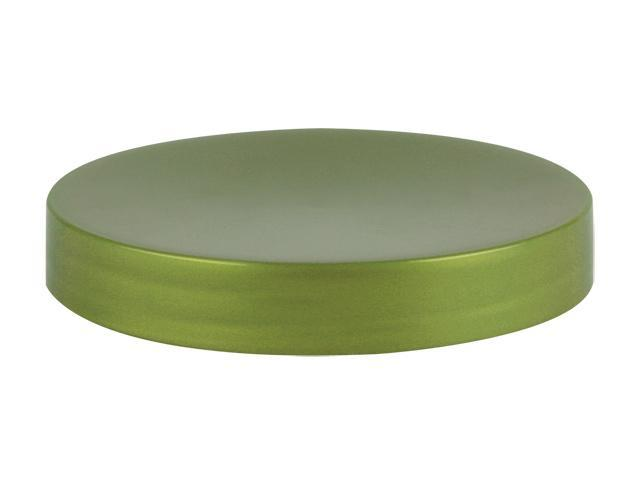 SNDR-31655-PEARL GREEN PLASTIC JAR LID, SMOOTH CLOSURE WITH AN 89/400 FINISH, LINERLESS