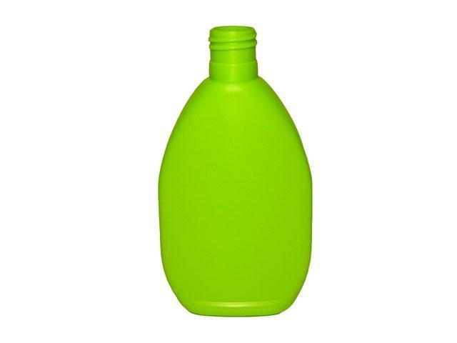 SNEP-21169-LEAF GREEN PLASTIC BOTTLES, 9 OZ. HDPE TAPERED OVAL WITH A 28/415 FINISH