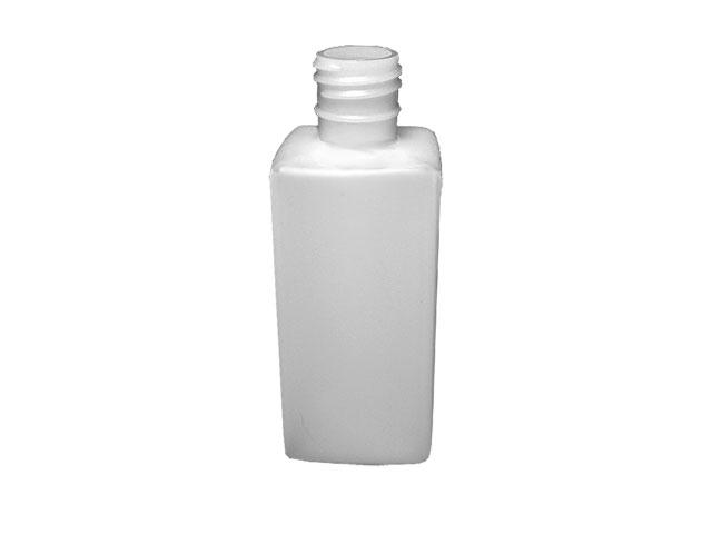 SNEP-22077-PLASTIC BOTTLE, 8 OZ. HDPE SQUARE WITH A 28/415 FINISH-NATURAL