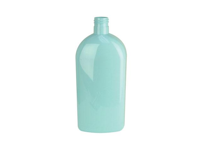 SNEP-23786-LIGHT BLUE PLASTIC BOTTLE, 500 ML PET ARCHED OBLONG WITH A 24/415 FINISH