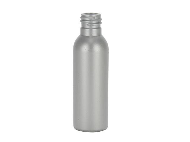 SNEP-26672-SILVER PLASTIC BOTTLE, 2 OZ. HDPE BULLET (IMPERIAL) WITH A 20/410 FINISH