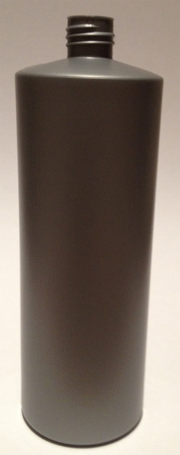 SNEP-50995S-1000ml Silver HDPE Round Bottle (Square Shoulder) 28mm Screw Finish