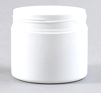 250gr White PP Cosmetic Jar 78mm Screw Finish with matching white lid