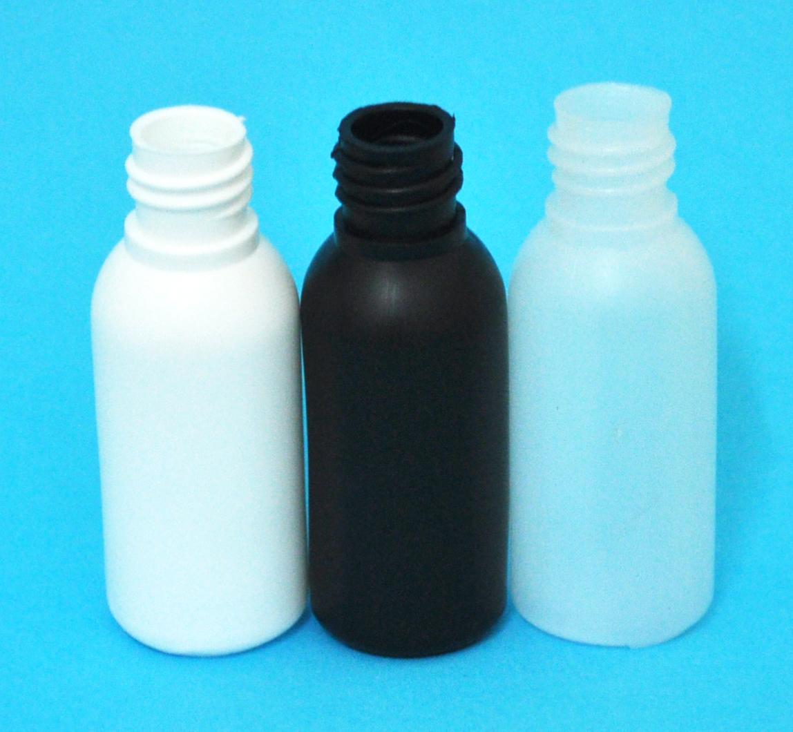 SNEP-30BHDPEB1815-30ml Black HDPE Tall Boston Bottle with 18/415 Neck