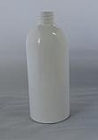 SNEP-500CBPETW- 500ml White PET Boston Bottle with 28/410 Neck