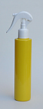 250ml YELLOW PET Cylindrical bottle with matching White Swan Neck Sprayer