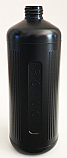 SNPOIBHDPE1000-1000ml HDPE Poison Bottle Black with 28/410 Neck