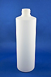 Natural Cylindrical HDPE Bottle 500mL with 28/410 Neck Finish