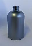 SNEP-500WPETSB- 500ml Silver Pet Stocky Boston Bottle with 28/410 Neck