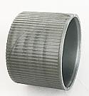 Matt Silver Fine Ribbed Continuous Thread Plastic Screw Top Cap 24/410