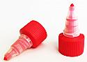 Red Natural Plastic Twist Top Cap 20/410